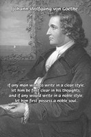 Noble soul, Clear Mind, Goethe Purity of Thought
