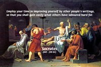 Socrates: Knowledge Books Wisdom