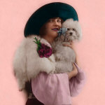 1920's Flapper with Maltese or Bichon