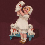 1910's German Girl and Bichons