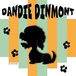 Dandie Dinmont Terrier Green/Orange Stripe
