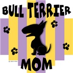 Bull Terrier Mom - Yellow/Purple Stripe