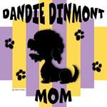 Dandie Dinmont Terrier Mom - Yellow/Purple Stripe