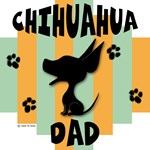 Chihuahua Dad Green/Orange Stripe