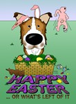 Sable Smooth Collie - Happy Easter