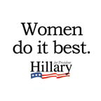 Women do it best: Hillary 2008