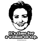 Hillary Clinton: It's time for a woman on top