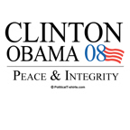 Clinton/Obama: Peace and Integrity