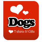I Love Dogs T-shirt & I Love Dogs T-shirts