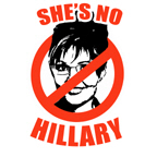 NO PALIN: She's no Hillary
