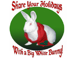 Share Your Holidays with a Big White Bunny!