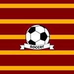 Soccer Ball Banner Maroon Gold Stripe