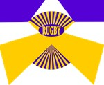Rugby Gold Purple Spokes