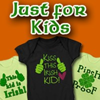 Just for Kids St Patricks Day tees