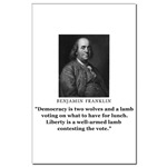 Benjamin Franklin Contest the Vote Quote