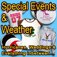 Birthdays, Graduations, Wild Weather, Special Even