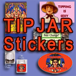 Tip Jar Stickers and Tip Jar Sayings