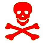 Blood Red Skull and Crossbones