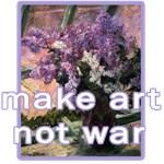 Make Art Not War Anti-War Art Design