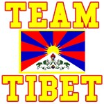 TEAM TIBET on sweatshirts, t-shirts, buttons