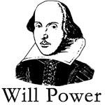 William Shakespeare Will Power T-shirts
