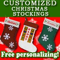 Custom Christmas Stockings for Hanging