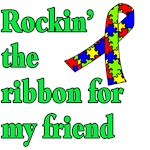 Rockin the Autism Ribbon for My Friend
