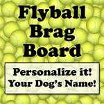 Flyball Brag Board