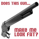 Does this gun make me look fat?