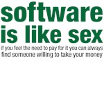 software is like sex