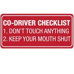 Co-Driver Checklist