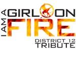 I am a girl on fire Hunger Games t shirt