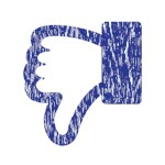 Distressed Dislike Icon