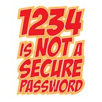 1234 is not a secure password