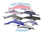 Dolphins Swim Together