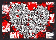 Emo Ska Skull Heart