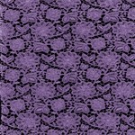 Purple  Lace on Black Pattern