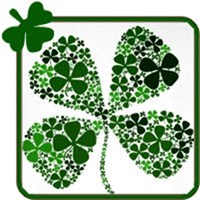 Infinite Luck Four Leaf Clover T-shirts