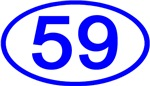 Number 59 Oval (Blue)