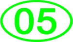 Number 05 Oval (Green)