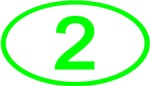 Number 2 Oval (Green)