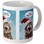 Cat Christmas Mugs