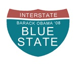 Obama Blue State T-shirts