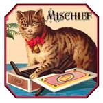 VINTAGE CAT ART: MISCHIEF