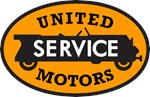 Vintage United Motors Service sign reproductions