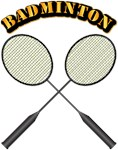 Badminton with Text