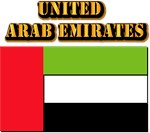 United Arab Emirates Flag  w Txt