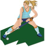 Field Hockey Player without Text
