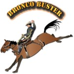 Cowboy - Bronco Buster with Text