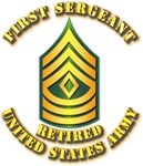 Army - First Sergeant E-8 - Retired